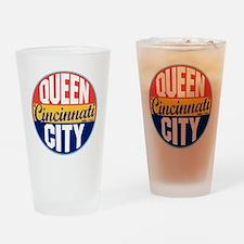 Cincinnati Vintage Label Drinking Glass