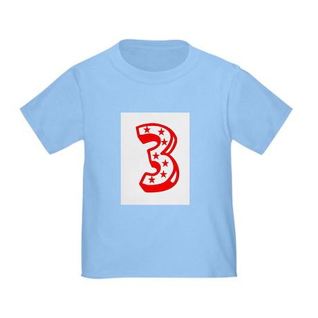 Happy 3rd Third Birthday Toddler T-Shirt