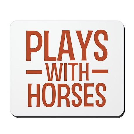 PLAYS Horses Mousepad