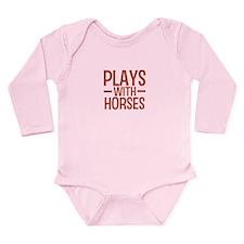 PLAYS Horses Long Sleeve Infant Bodysuit