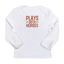 PLAYS Horses Long Sleeve Infant T-Shirt