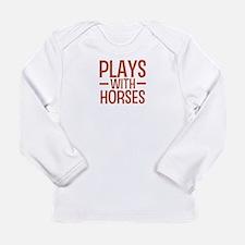 PLAYS Horses Long Sleeve Infant T-Shirt