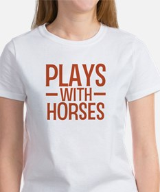 PLAYS Horses Women's T-Shirt