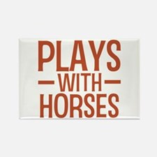 PLAYS Horses Rectangle Magnet