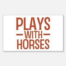 PLAYS Horses Sticker (Rectangle)