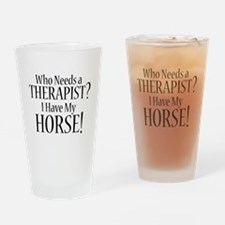 THERAPIST Horse Drinking Glass