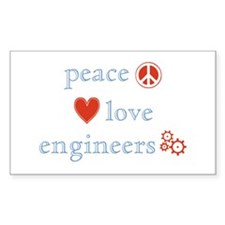 Peace, Love and Engineers Decal