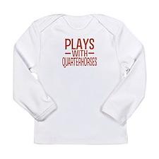 PLAYS Quarter Horses Long Sleeve Infant T-Shirt