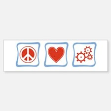 Peace, Love and Engineers Sticker (Bumper)