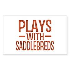 PLAYS Saddlebreds Decal