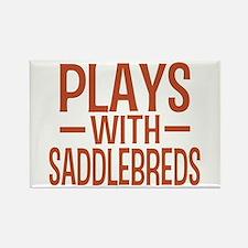 PLAYS Saddlebreds Rectangle Magnet