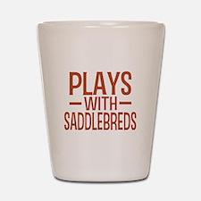 PLAYS Saddlebreds Shot Glass