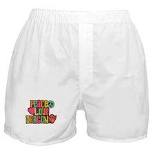 Peace Love Dragon Boxer Shorts