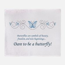 Butterfly Challenge Throw Blanket