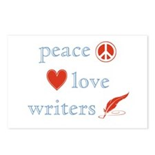 Peace, Love and Writers Postcards (Package of 8)