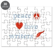 Peace, Love and Writers Puzzle