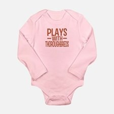 PLAYS Thoroughbreds Long Sleeve Infant Bodysuit