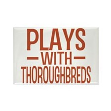 PLAYS Thoroughbreds Rectangle Magnet