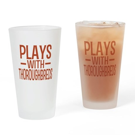 PLAYS Thoroughbreds Drinking Glass