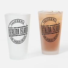 Catalina Island Title Drinking Glass