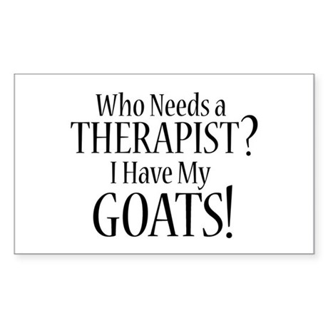 THERAPIST Goats Sticker (Rectangle)