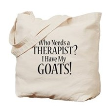 THERAPIST Goats Tote Bag