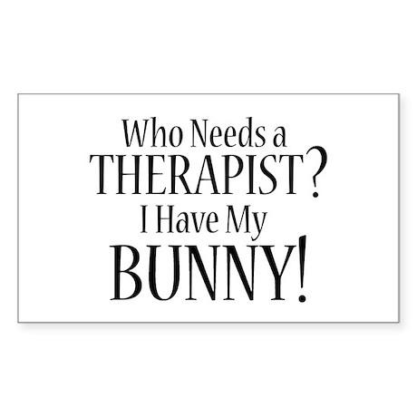 THERAPIST Bunny Sticker (Rectangle)