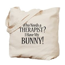 THERAPIST Bunny Tote Bag