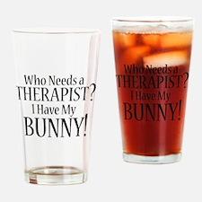 THERAPIST Bunny Drinking Glass