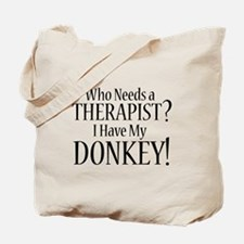 THERAPIST Donkey Tote Bag