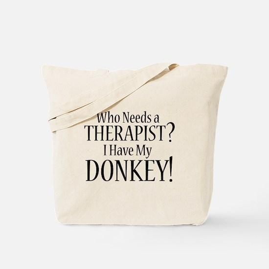 THERAPIST Donkey Tote Bag