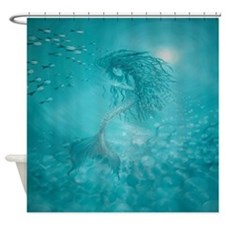 Mermaid (aqua) Shower Curtain