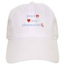 Peace, Love and Pharmacists Baseball Cap