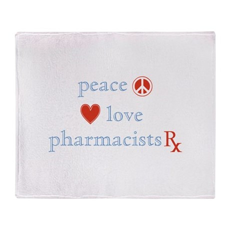 Peace, Love and Pharmacists Throw Blanket