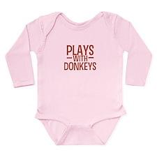 PLAYS Donkeys Long Sleeve Infant Bodysuit