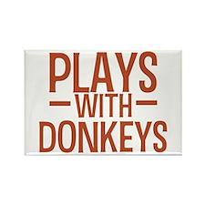 PLAYS Donkeys Rectangle Magnet