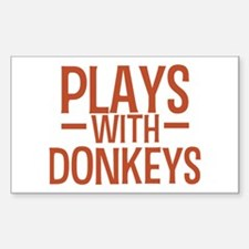 PLAYS Donkeys Decal
