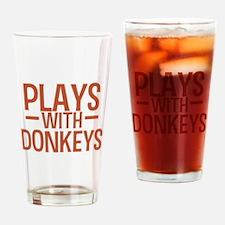 PLAYS Donkeys Drinking Glass