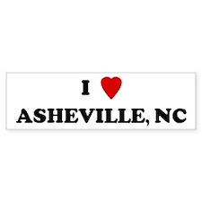 I Love Asheville Bumper Bumper Sticker