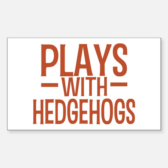 PLAYS Hedgehogs Sticker (Rectangle)