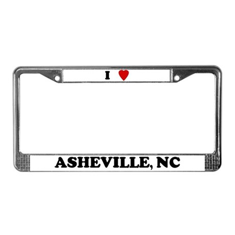I Love Asheville License Plate Frame