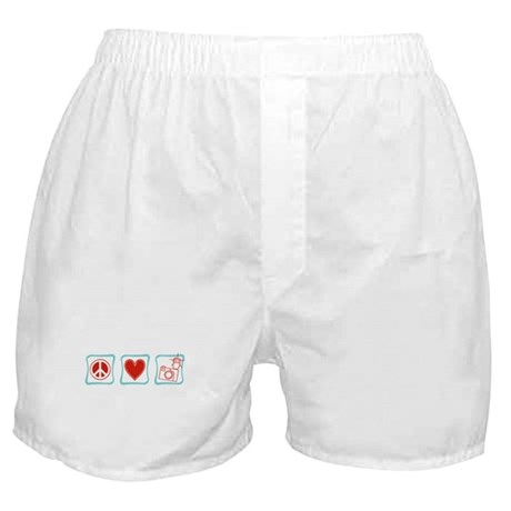 Peace, Love and Photographers Boxer Shorts
