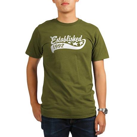 Established 1992 Organic Men's T-Shirt (dark)