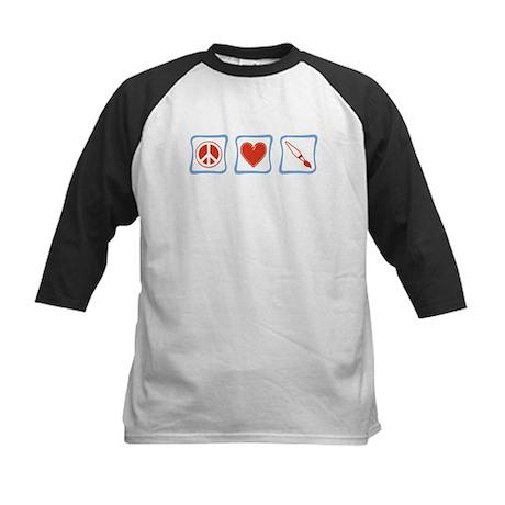 Peace, Love and Artists Kids Baseball Jersey