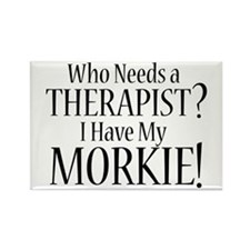 THERAPIST Morkie Rectangle Magnet