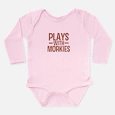 PLAYS Morkies Long Sleeve Infant Bodysuit