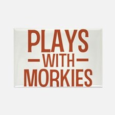 PLAYS Morkies Rectangle Magnet