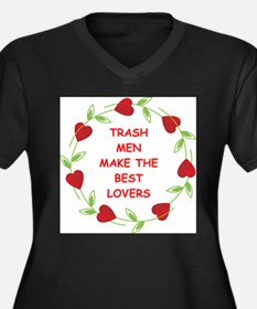 trash man Women's Plus Size V-Neck Dark T-Shirt