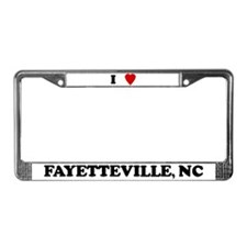 I Love Fayetteville License Plate Frame
