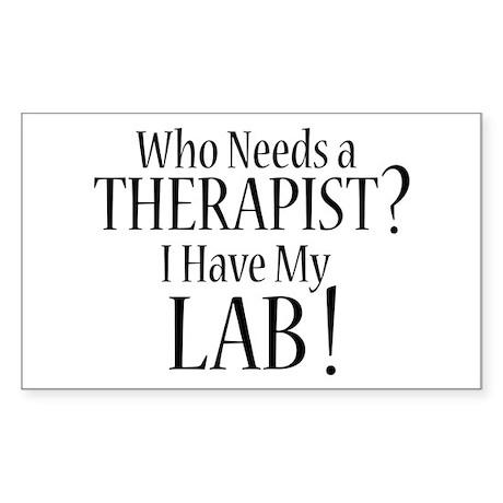 THERAPIST Lab Sticker (Rectangle)
